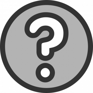 Question mark in circle